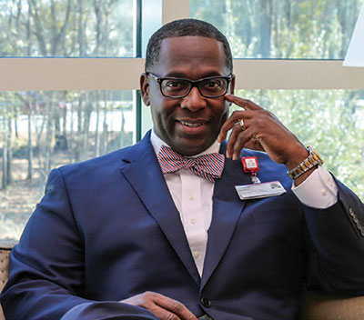 Anthony Jackson is new to the job of CEO of Roper St. Francis Mount Pleasant Hospital, but he's already making a difference.