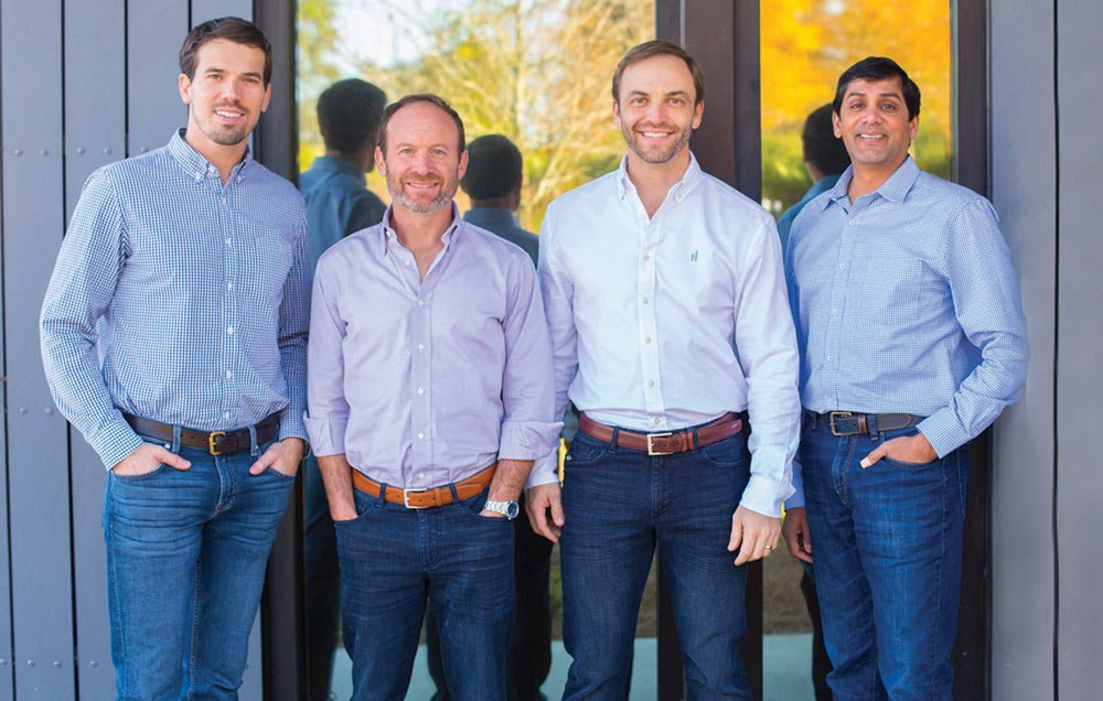 Charleston Oral and Facial Surgery, from left to right: Dr D Graham Lee, Dr Edward Strauss, Dr A Drane Oliphant, and Dr Aaron P Sarathy