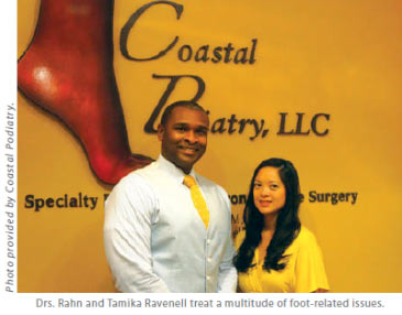 Drs. Dr. Rahn Ravenell and Tamika Ravenell treat a multitude of foot issues including flat feet, surgical removal of bunions, geriatric foot care, diabetic foot care and more.