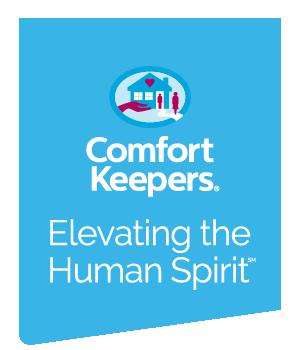 Comfort Keepers logo. Elevating the Human Spirit.